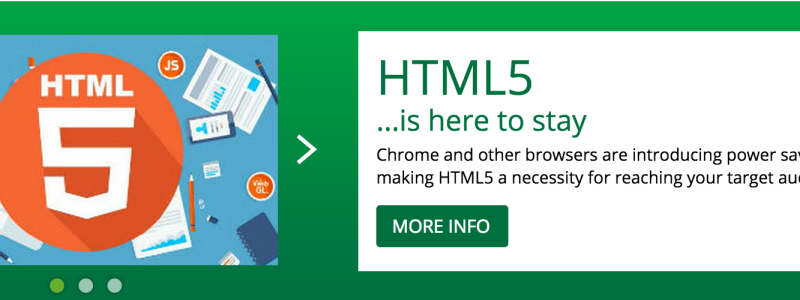 HTML5 is here to stay.